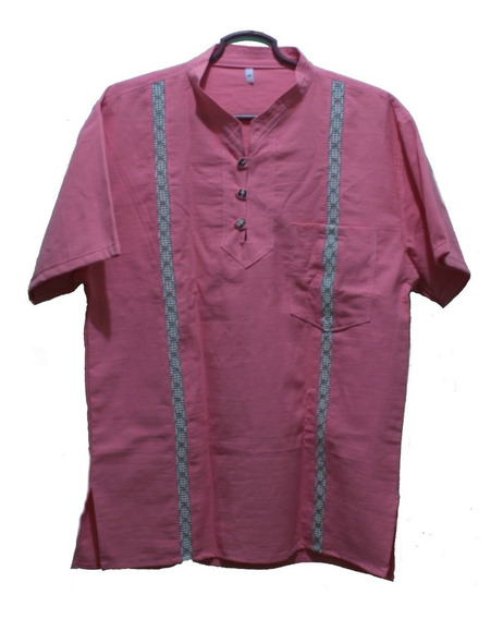 Guayabera Casual Camisas De Manta Prelavada Artesanal