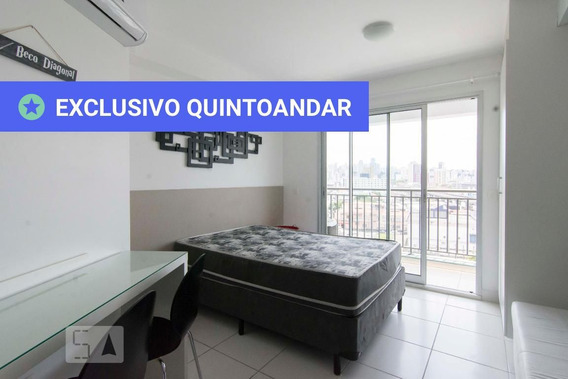 Studio No 7º Andar Mobiliado Com 1 Dormitório - Id: 892989950 - 289950