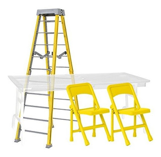 Ultimate Ladder, Table And Chairs Yellow Playset Para Wwe Wr