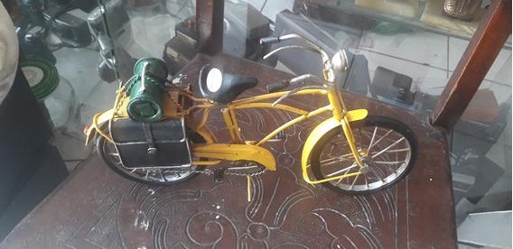 Miniatura De Bicicleta Antiga Em Ferro Retrô Raridade Coleçã