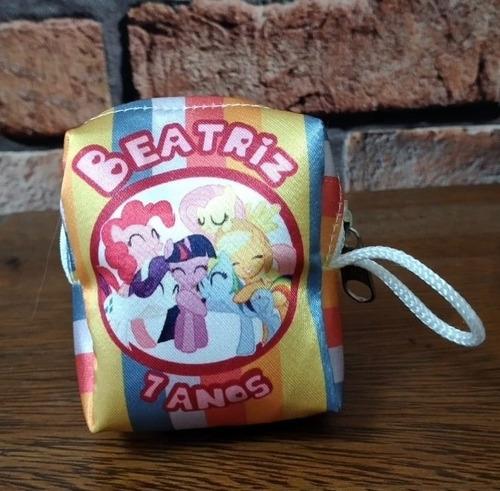 40 Bolsinha Porta Moedas Niquel Personalizada My Pony