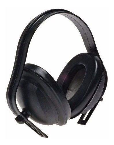 Protetor Auricular Tipo Concha 13 Db Cor Preta 5 Unidades