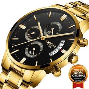 Relógio Nibosi Super Oferta!! Cor Dourado - Envio Imediato!