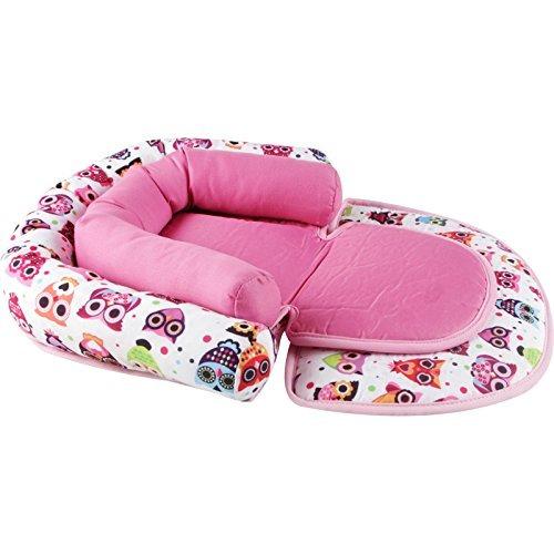 color blanco Alfombrilla port/átil para cama de beb/é antivuelco KAKIBLIN dise/ño de estereotipos para reci/én nacidos para 0-8 meses