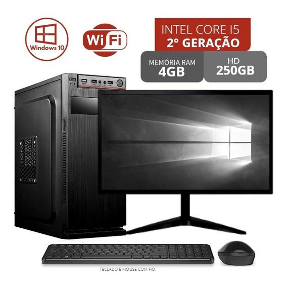 Pc + Tela Gamer Hd250gb 4gb Core I5 Até 12x Sem Juros