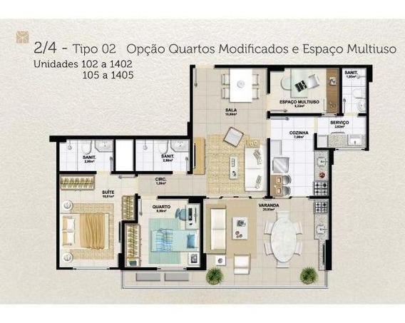 Apartamento Para Venda Em Salvador, Pituaçu, 2 Dormitórios, 2 Suítes, 1 Banheiro, 2 Vagas - Vg0347_2-402200