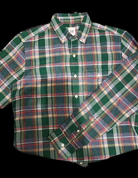 Camisa Gap Cuadros Chica 65 Poliéster 35 Algodón Nopayork