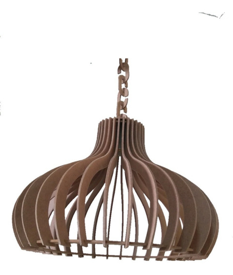 Luminária Lustre Pendente Rústico 35cm