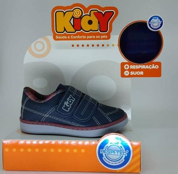 Sapatênis Kidy Flex Cano Baixo 117-0185-1236 Com Velcro