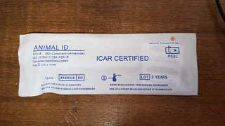 Microchip 1.4 X 8mm Identificación Perros Y Gatos