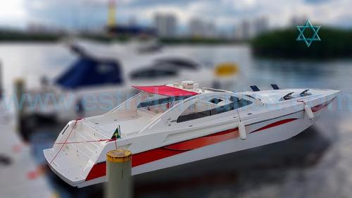 Lancha Excalibur 45 Barco Iate N Azimut Fishing Intermarine