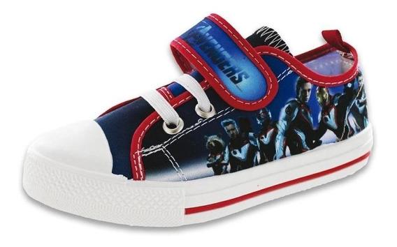 Tenis Para Niño Casuales Incognita Avengers Marvel Azul