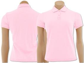 3 Camisas Pólo Baby Look Piquet - Feminino
