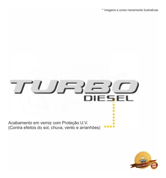Emblema/adesivo Turbo Diesel Ford F250