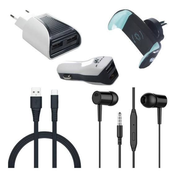 Fone De Ouvido Com Kit Carregador Samsung A50 A30 Completo