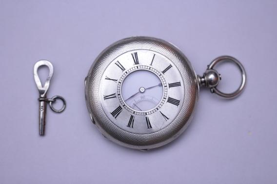 Reloj De Bolsillo Muy Antiguo Tipo Napoleon En Plata