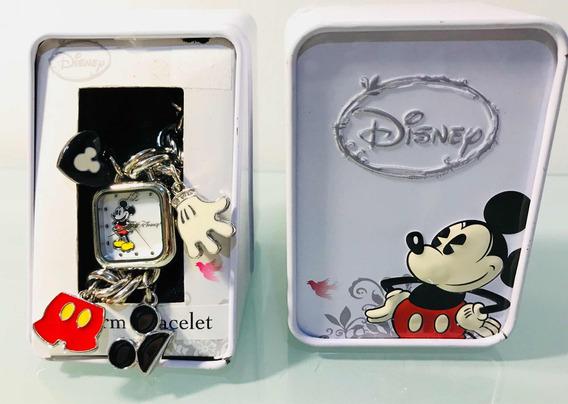 Relógio Mickey Disney Com Berloques Mickey