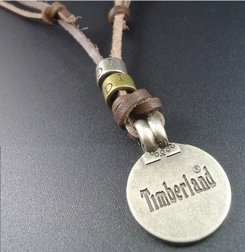 Colar Cordão Timberland Vintage Masculino Couro