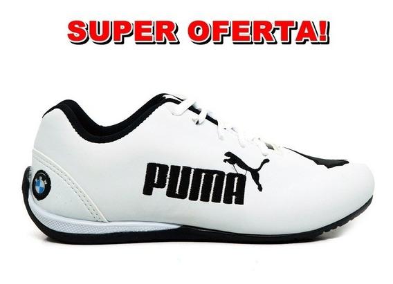 Tênis Puma Bmw Cat 2 Branco E Preto