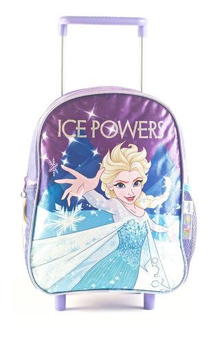 Mochila Frozen Carro 12 Ice Cierre Violeta Original