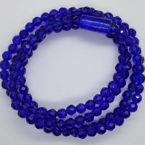 Imagem 1 de 8 de Guia De Oxum Azul Cristal Umbanda