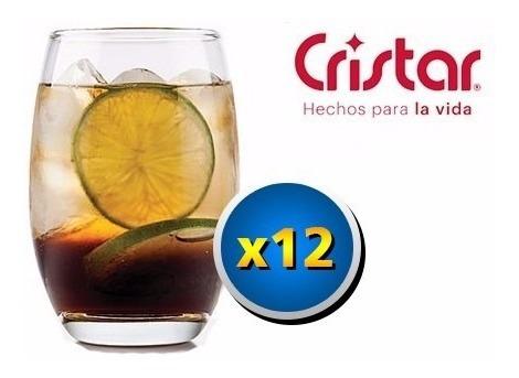 Vaso X12 Mikonos Cristar 460cc Gaseosa Bar Resto Vino Whisky