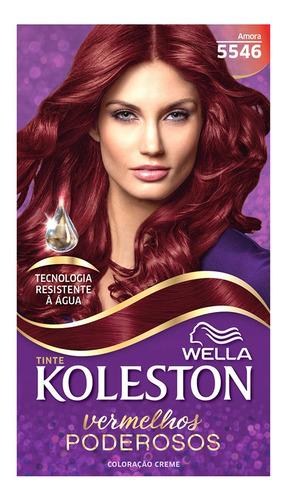 Coloração Creme Koleston Kit Amora 5546