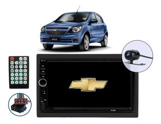 Central Multimídia Android Bluetooth Entrada Usb Sd Frontal Chevrolet Agile 2009 2010 2011 2012 2013 2014 2015 + Câm Ré