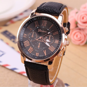 Relógios Masculinos Geneva Importado Original Pulseira Couro