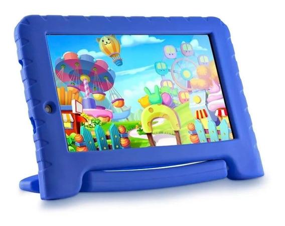 Tablet Infantil Multilaser Kids Pad Plus Azul Com 2 Câmeras