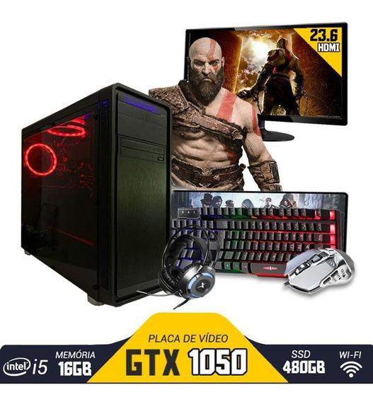 Pc Gamer Completo I5 6º Ger. Gtx1050 16gb Ssd480gb Mon.23.6