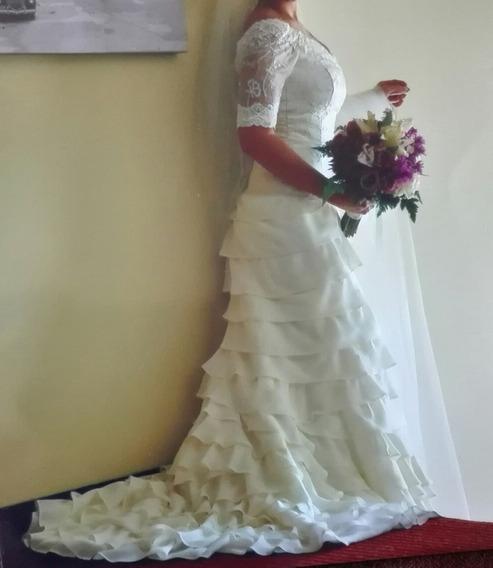 Vestido De Novia De Diseñadora Zuliana Hermoso, Impecable
