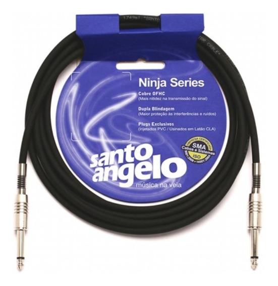 Cabo Guitarra Violão Instrumento Santo Angelo Ninja 3 Mt P10