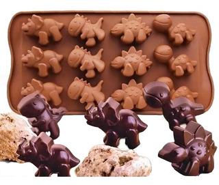 Molde Silicon Dinosaurios Para Reposteria Chocolate Hielo