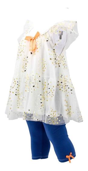 Vestido De Niña Con Capri En Oferta 03625