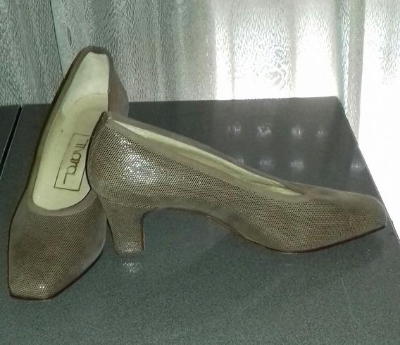 Zapatos Mujer Cabretilla Estilo Formal Hecho A Mano Taco 6cm