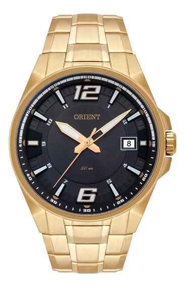 Relogio Masculino Orient Dourado Mgss1168g2kx