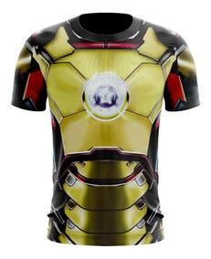 Camisa Camiseta 3d Homem De Ferro, Vingadores, Iron Man