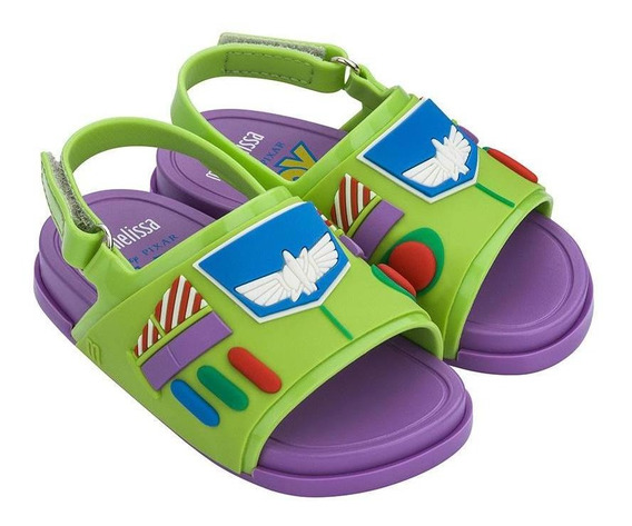 Sandália Mini Melissa Beach Slide + Toy Story