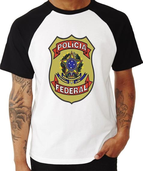 Polícia Federal Camisa Pf Camiseta Distintivo Blusa Brasão
