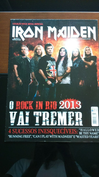 Revista Pôster Gigante Iron Maiden 52cm X 81cm Nova