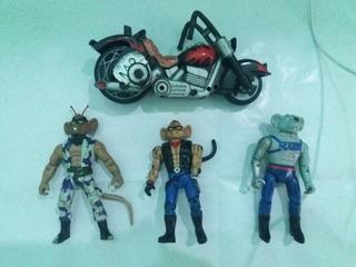 Motoratones Marte 3 Fiuras Y 1 Moto Coleccion Envio Gratis