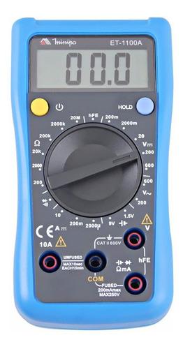 Multímetro Digital Ac/dc Minipa Et-1100a