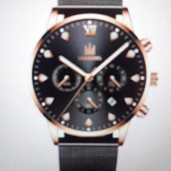 Promoção: Relógio Social Estiloso De Luxo Unissex: