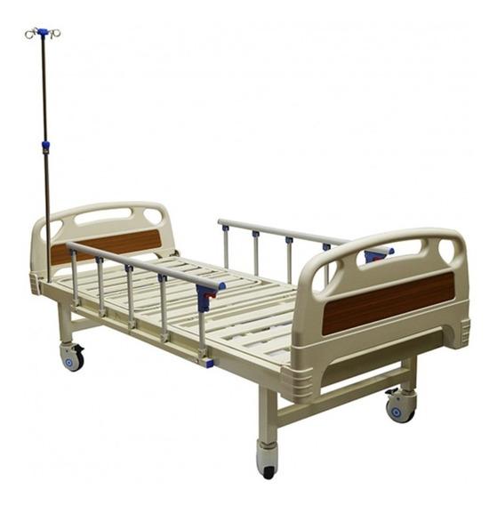 Cama Hospitalaria Manual De Lujo Con Colchon + Envio Gratis