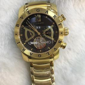 Relógio Bvlgari Dourado Masculino
