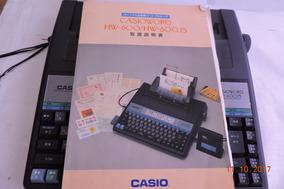 Casio Personal Word Processor Hw 600 Js Com Manual Veja Vide