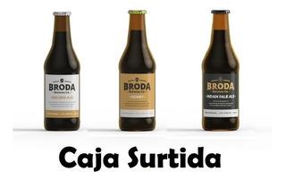 Cerveza Artesanal Broda Golden Honey Ipa 500 Cc Caja X 12u.