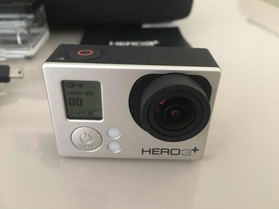 Gopro Hero 3+ Cartão 16gb E Maleta Com Vários Acessórios