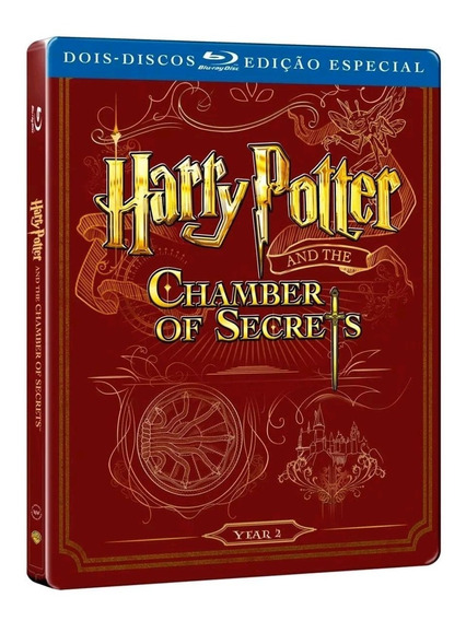 Harry Potter E A Câmara Secreta - Blu-ray Duplo - Steelbook